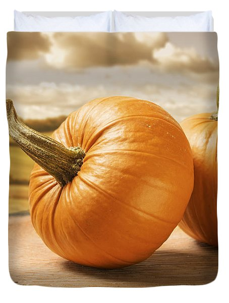 Pumpkins Duvet Cover by Amanda And Christopher Elwell