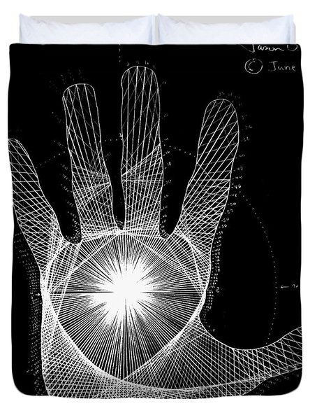 Quantum Hand Through My Eyes Duvet Cover by Jason Padgett