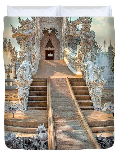 Rong Khun Temple Duvet Cover by Adrian Evans
