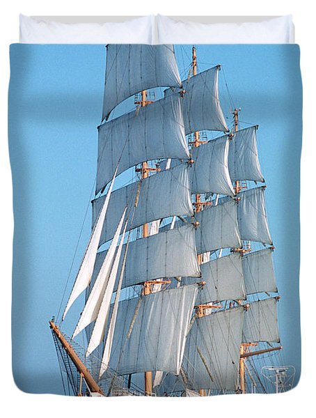 Sailing Ship Duvet Cover by Anonymous