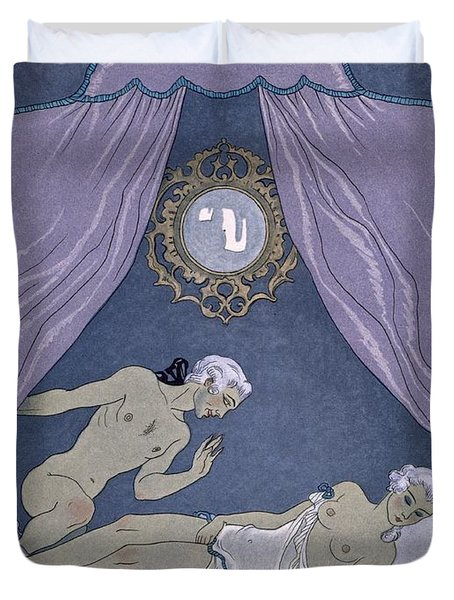 Scene From 'les Liaisons Dangereuses' Duvet Cover by Georges Barbier