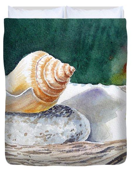 Sea Shells Duvet Cover by Irina Sztukowski