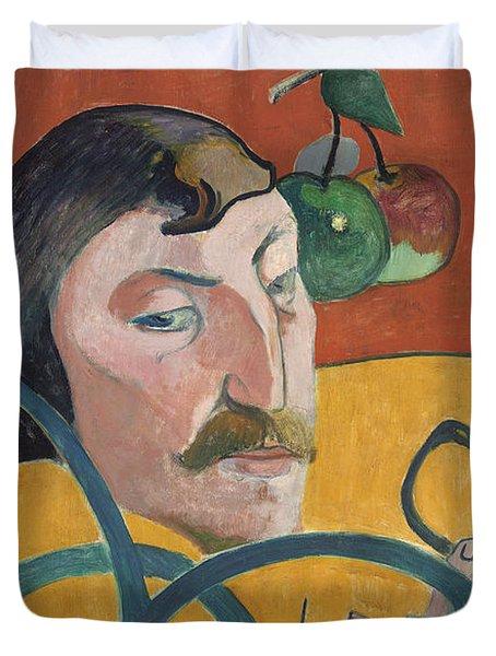 Self Portrait Duvet Cover by Paul Gauguin