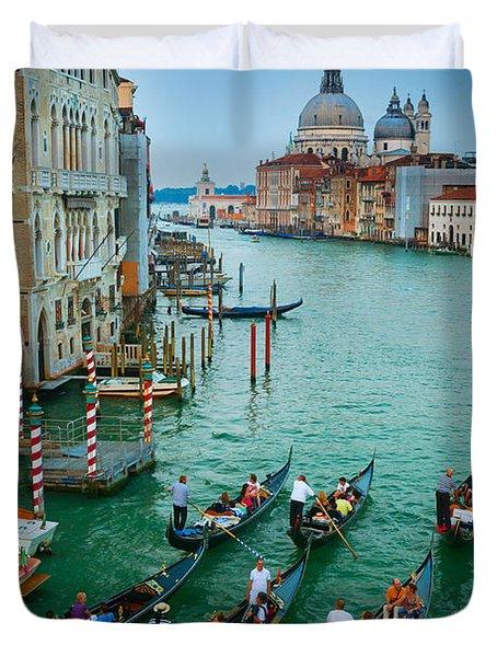 Six Gondolas Duvet Cover by Inge Johnsson