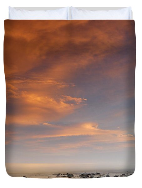 Small stones islands Duvet Cover by Guido Montanes Castillo