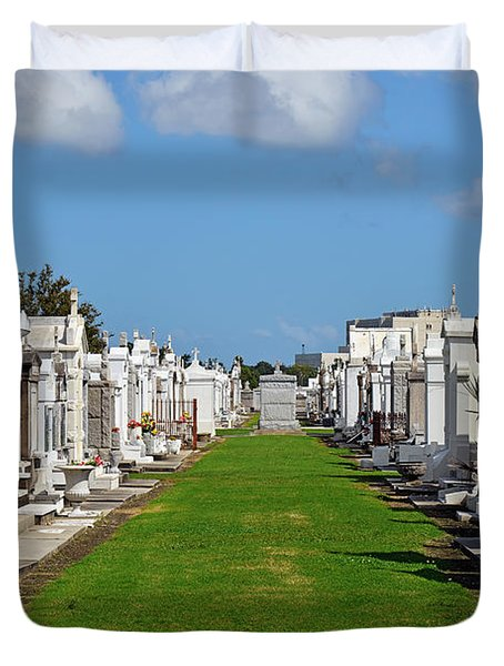 St Louis Cemetery No 3 New Orleans Duvet Cover by Christine Till