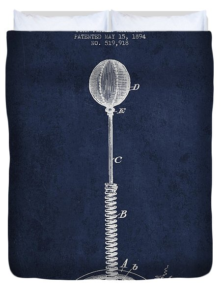 Striking Bag Patent Drawing From1894 Duvet Cover by Aged Pixel