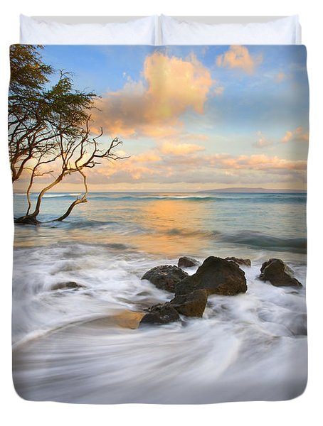 Sunset Tides Duvet Cover by Mike  Dawson