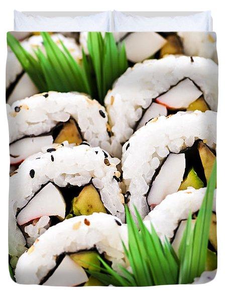 Sushi platter Duvet Cover by Elena Elisseeva