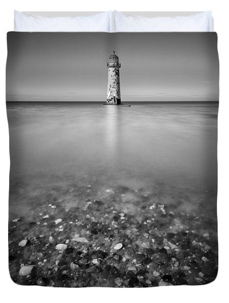 Talacre Lighthouse Duvet Cover by Dave Bowman
