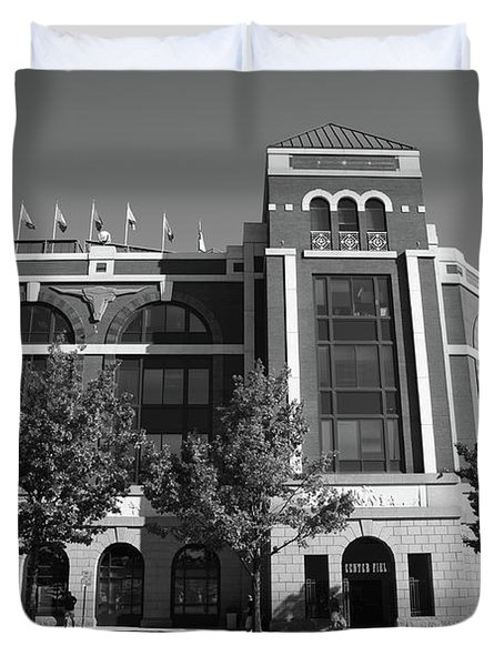 Texas Rangers Ballpark in Arlington Duvet Cover by Frank Romeo