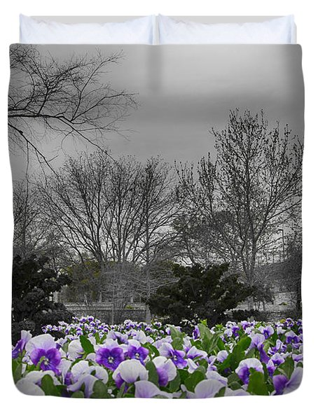 The Color Purple Duvet Cover by Douglas Barnard