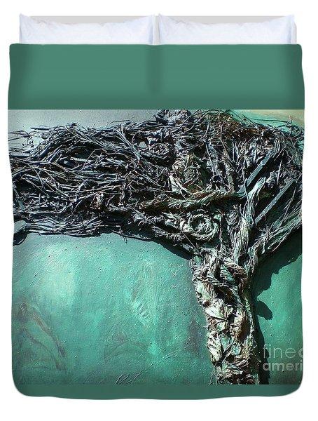 The Greenman Duvet Cover by Ann Fellows