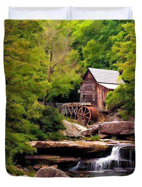 The Grist Mill Painted  Duvet Cover by Steve Harrington