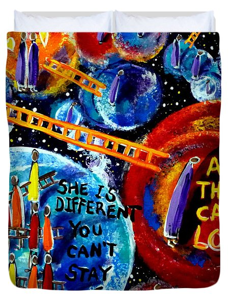 Then Came Love Duvet Cover by Jackie Carpenter