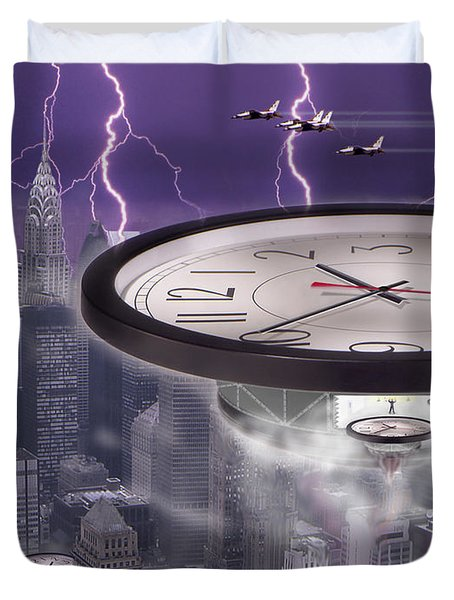 Time Travelers 2 Duvet Cover by Mike McGlothlen