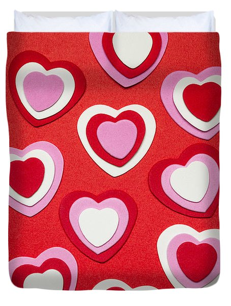 Valentines Day Hearts Duvet Cover by Elena Elisseeva