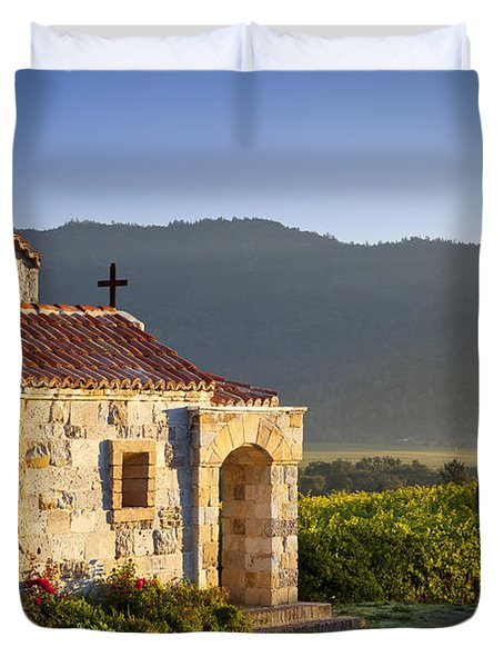 Vineyard Prayer Chapel Duvet Cover by Brian Jannsen