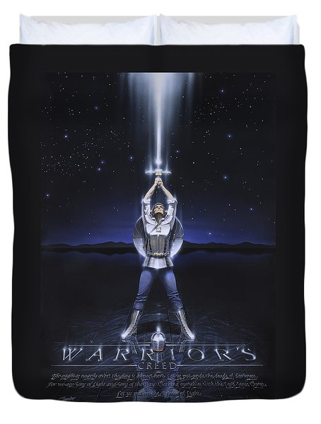 Warriors Creed Duvet Cover by Cliff Hawley