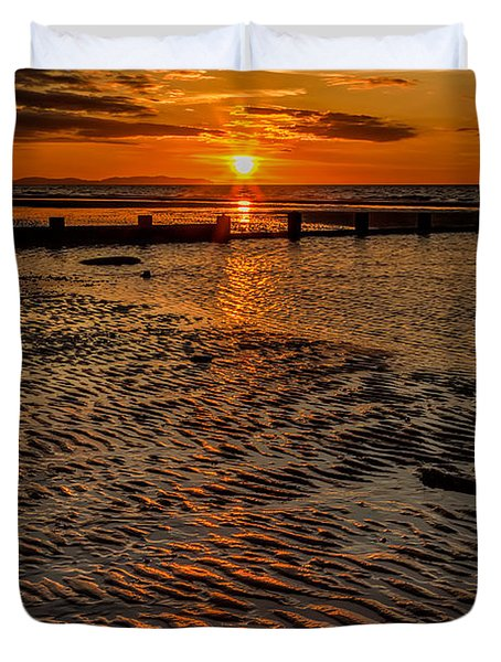 Welsh Sunset Duvet Cover by Adrian Evans