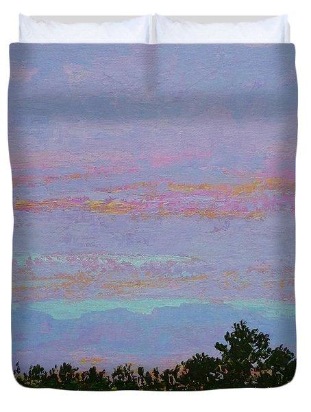 Winter Sunset Duvet Cover by Gail Kent