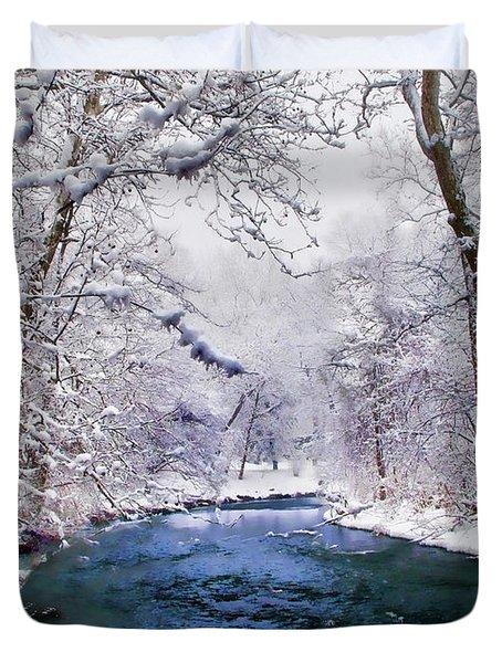 Winter White Duvet Cover by Jessica Jenney