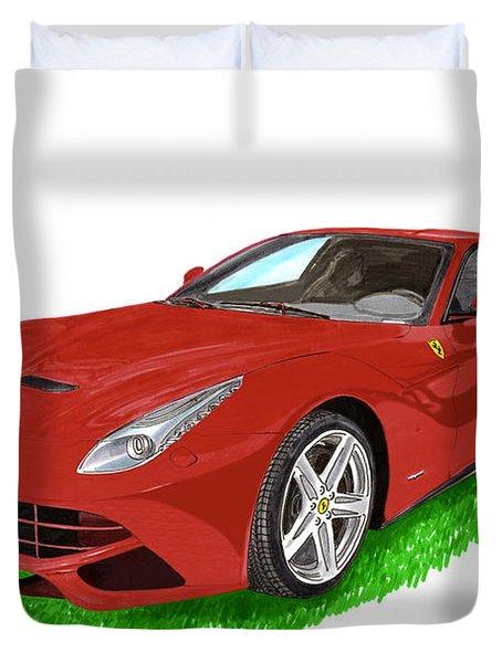 2012 F12 Ferrari Berlinetta Gt Duvet Cover by Jack Pumphrey