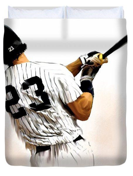 23   Don Mattingly  Duvet Cover by Iconic Images Art Gallery David Pucciarelli