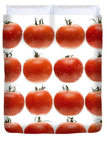 24 Tomatoes Duvet Cover by Steve Gadomski