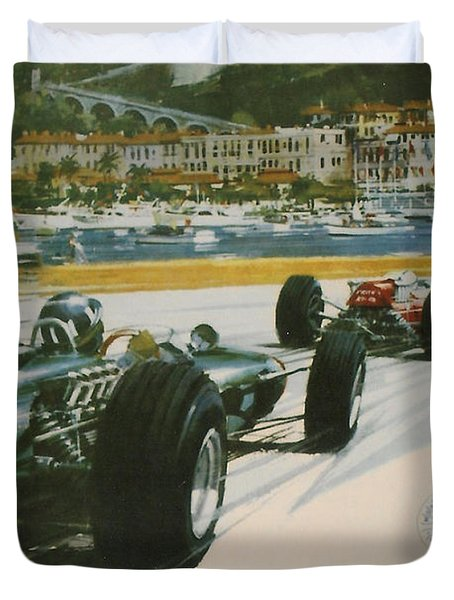 24th Monaco Grand Prix 1966 Duvet Cover by Nomad Art And  Design