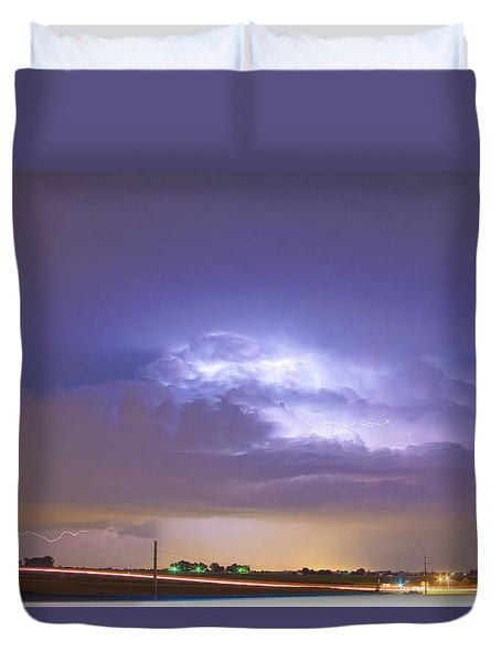 25 To 34 Intra-cloud Lightning Thunderstorm Duvet Cover by James BO  Insogna