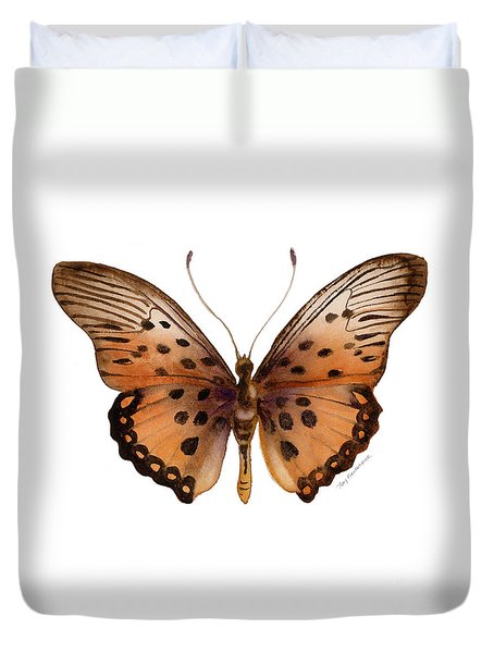 26 Trimans Butterfly Duvet Cover by Amy Kirkpatrick