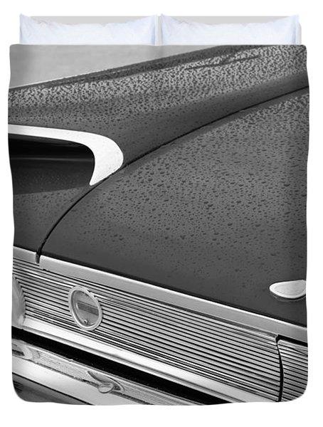 1960 Ford Galaxie Starliner Taillight Emblem Duvet Cover by Jill Reger