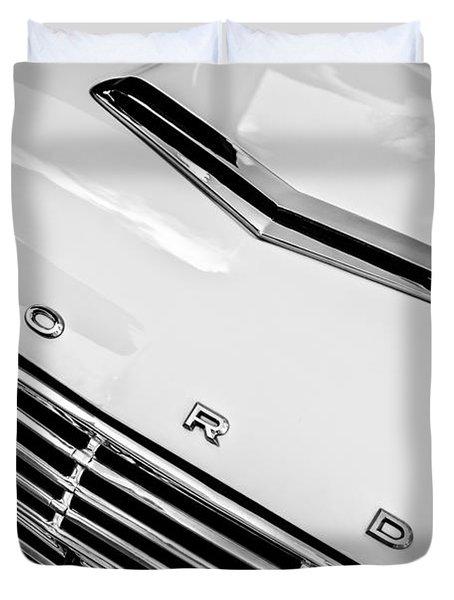 1963 Ford Falcon Futura Convertible Hood Emblem Duvet Cover by Jill Reger