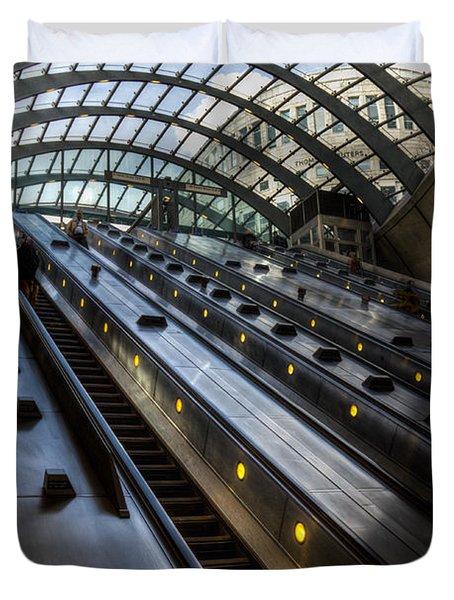 Canary Wharf Station Duvet Cover by David Pyatt