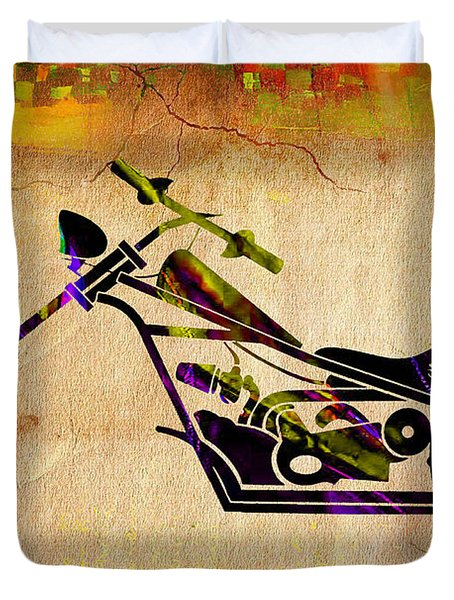 Chopper Art Duvet Cover by Marvin Blaine