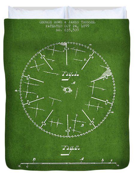 Circular Saw Patent Drawing From 1899 Duvet Cover by Aged Pixel