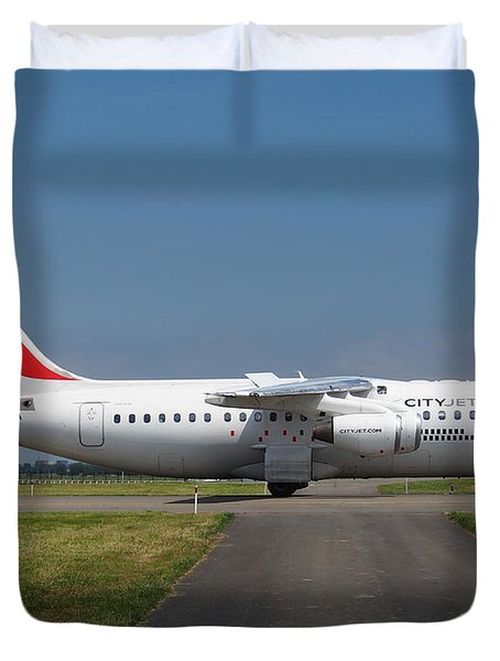 Cityjet British Aerospace Avro Rj85 Duvet Cover by Paul Fearn