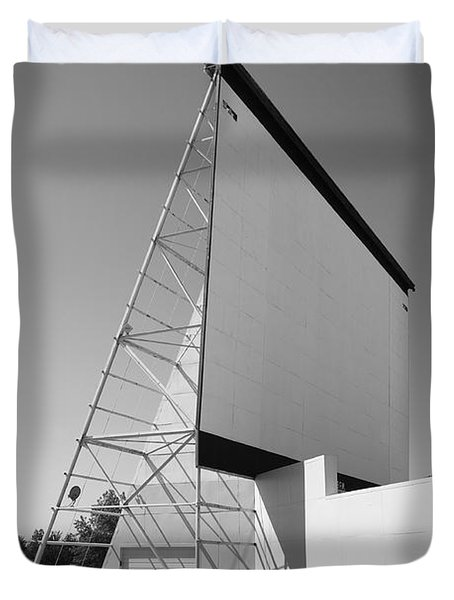 Drive-in Movie Duvet Cover by Frank Romeo