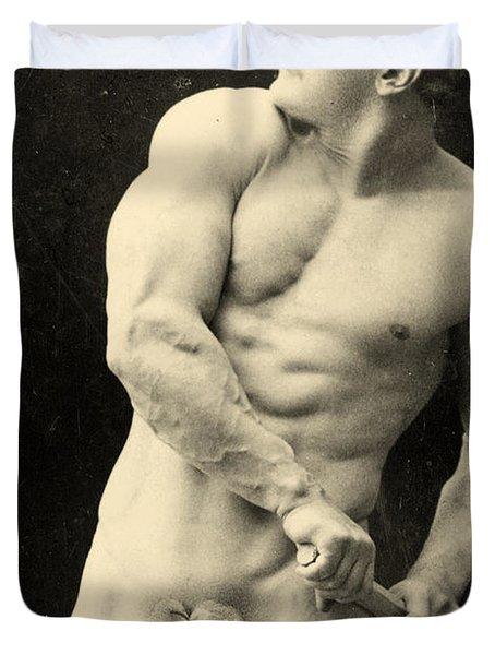 Eugen Sandow Duvet Cover by George Steckel