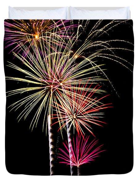 Fireworks Duvet Cover by Saija  Lehtonen