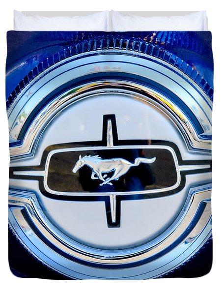 Ford Mustang Emblem Duvet Cover by Jill Reger