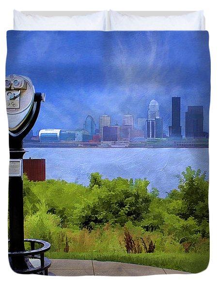 Louisville Kentucky Duvet Cover by Darren Fisher