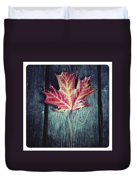 Maple Leaf Duvet Cover by Natasha Marco