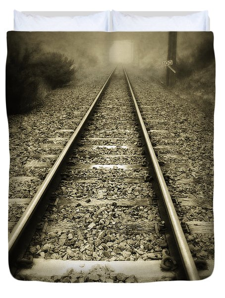 Railway Tracks Duvet Cover by Les Cunliffe