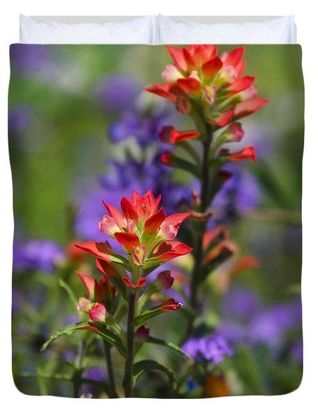 Spring Flowers Duvet Cover by Saija  Lehtonen