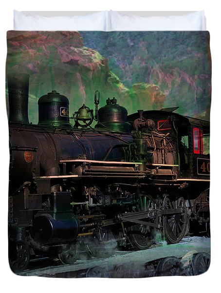 Steam Locomotive Duvet Cover by Gunter Nezhoda