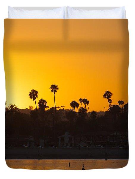 Sunset Santa Barbara Duvet Cover by Ralf Kaiser