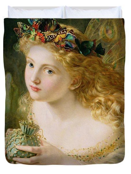 Take The Fair Face Of Woman Duvet Cover by Sophie Anderson