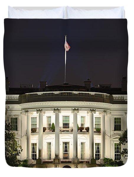 The White House Duvet Cover by John Greim